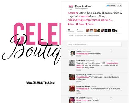 "Celeb Boutique use ""Aurora"" to promote themselves"